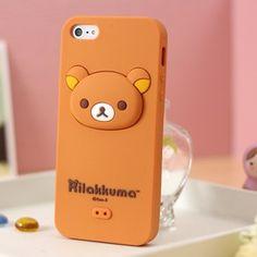 Rilakkuma Silicone iphone 5 case 3D Head Brown  http://www.case2case.net/rilakkuma-silicone-iphone-5-case-3d-head-brown.html