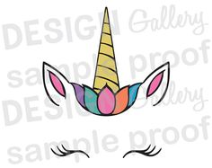 Face Painting Designs, Paint Designs, Unicorn Princess, Face Images, Unicorn Birthday Parties, Transfer Paper, Sticker Paper, Rock Art, Silhouette Cameo