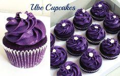 Ube Cupcakes – The Sweet & Savory Side of Me Ube Cupcake Recipe, Ube Dessert Recipe, Cupcake Recipes, Cupcake Cakes, Dessert Recipes, Ube Mamon Recipe, Ube Macapuno Cake Recipe, Yema Cake, Recipes