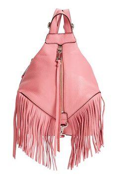 REBECCA MINKOFF  Mini Julian  Fringe Leather Backpack.  rebeccaminkoff  bags   leather 8d379b6ca8a83