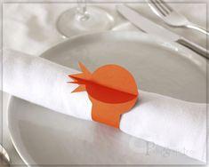 Pomegranate Paper Napkin Rings , Rosh Hashanah Table Decor , Jewish Holiday Table , Napkin Holders , Jewish New Year, set, of 10 Orange PM03