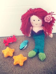 Our readers are so talented - we love the fabulous head of hair that Bella's grandma has added to her Pearl mermaid!