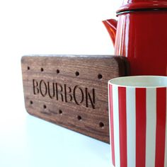 Bourbon Biscuit Giant Wooden Coaster