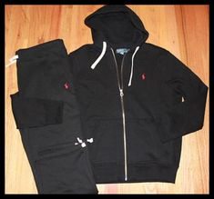 NWT Polo Ralph Lauren Mens Classic Fleece Hooded Track & Sweat Suits M L XXL in Clothing, Shoes & Accessories, Men& Clothing, Sweats & Hoodies Jogging Outfit, Polo Outfit, Sweatpants, Swag Outfits, Cute Outfits, Fashion Outfits, Lazy Outfits, Look Fashion, Teen Fashion