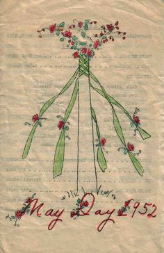 normajune: may day. May Day Traditions, May Day Baskets, Seasonal Image, May Days, Beltane, Elephant Nursery, Textiles, Wiccan, Witchcraft