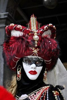 carnival masks, colorful and beautiful art. In Venice  Stock Photo