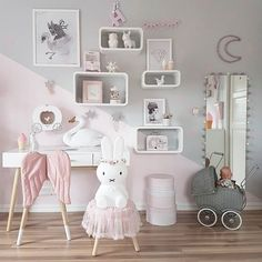 #repost fra denne sengeliggende mammaen i dag Håper dere har en fin dag og at solen titter frem litt der du er ❤ ____ #barnerom#mittbarnerom#barneromsdekor#barneromsinspo#jenterom #inspirasjon#prinsesse #pink #kidsfahion #kidsstyle #decorforkids #kidsroom #fashion #interior #playroom #girlsroom #princess #bedroom #kinderkamer #kinderzimmer