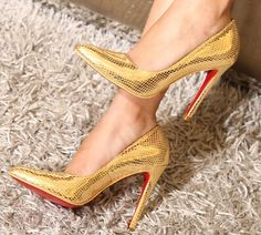 CL gold high heels