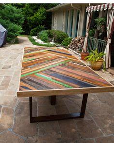 Custom Chevron Table, via Etsy.