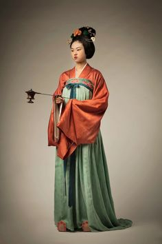 Historical Costume, Historical Clothing, Geisha, Authentic Costumes, Chinese Clothing, Cosplay, Oriental Fashion, Ancient China, Woman Drawing