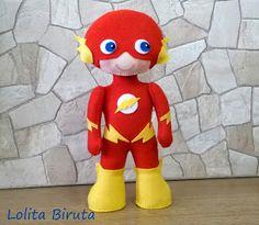 Boneco Super herói em feltro Flash