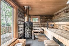 in Finland log cabin in Finland cabin in Finland log cabin in Finland Imagen Cozy Sauna Shower Combo Decorating Ideas Ikea Bathroom Metod Inspiring Wooden Houses Design Ideas Eco Friendly 07 House design, Architecture house, Home design decor, Barn
