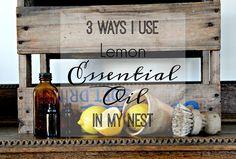 3 ways i use lemon essential oil
