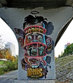 Nychos - #streetart #illustration #drawing