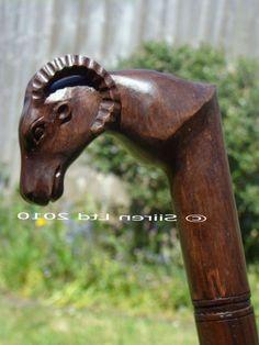 Gift Idea: Fairtrade Solid Wooden Ram Walking Stick
