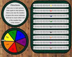 NUMBER LINE RACE GAME - TeachersPayTeachers.com