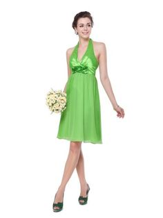 Ever Pretty Empire Line Sexy V-neck Flower Halter Bridesmaid Dress 03455 Beautiful Bridesmaid Dresses, Beautiful Gowns, Pretty Dresses, Evening Dresses, Prom Dresses, Summer Dresses, Formal Dresses, Halter Dresses, Ever Pretty