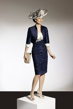 90359 – Navy/Cream (Condici) - Mother of the Bride - Compton House Of Fashion