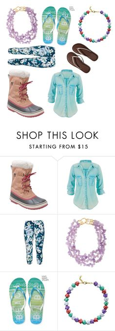"""This week's favs!"" by hailey-smith-13 ❤ liked on Polyvore featuring SOREL, maurices, Rimini, Kenneth Jay Lane, Aéropostale, Glenda López and Abercrombie & Fitch"