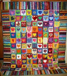 quilt ~ Never enough hearts ~ Blackberrycreek.typepad.com