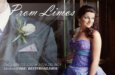 Affordable prom limousines in Orange County (Anaheim, Yorba Linda, Santa Ana, Brea, Newport Beach, Orange) and greater LA Prom Limos.