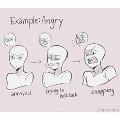 IFTTT Wut wütend Emotionen Mimik Art Tutorial Art tutorial e… Drawing Reference Poses, Drawing Poses, Manga Drawing, Drawing Tips, Drawing Ideas, Drawing Meme, Female Drawing, Drawing Cartoons, Ship Drawing