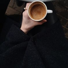 Image via We Heart It https://weheartit.com/entry/163993926/via/2659899 #black #classy #coffee #fashion #girl #grunge #outfit #pale #pastel #photography #style