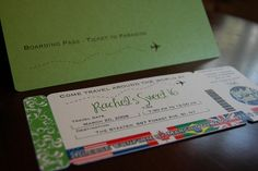 ticket idea for invitations