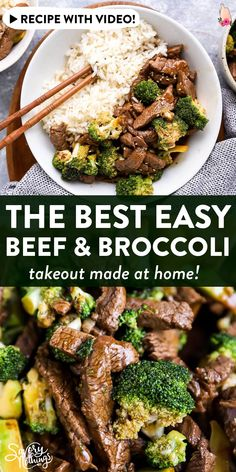 This Beef and Broccoli Stir Fry is so quick and easy to make - whip it up in 30 minutes with strips of tender beef plenty of healthy broccoli and just a few simple ingredients to make the sauce. Beef And Broccoli Sauce, Beef Broccoli Stir Fry, Healthy Beef And Broccoli, Beef Recipes For Dinner, Easy Chicken Recipes, Asian Recipes, Cooking Recipes, Healthy Recipes, Soup Recipes