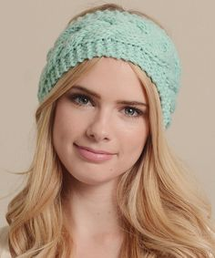Take a look at this Mint Cable-Knit Head Wrap on zulily today!