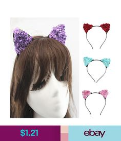 37d65866f604 Hair Accessories Floral Cat Ears Headband Party Costume Makeup Head Hair  Band Hair Kit.Us  ebay  Fashion. Crazy Sport Lovers