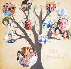 Memory Keeping: Free Family Tree Template - Modern Parents Messy Kids Family Tree For Kids, Trees For Kids, Family Tree With Pictures, Family Tree Photo, Family Tree Art, Photo Tree, Picture Templates, Tree Templates, Calendar Templates