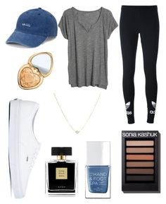"""Chill"" by kyra-leee on Polyvore featuring adidas Originals, Madewell, SO, Vans, Avon, The Hand & Foot Spa and Too Faced Cosmetics"