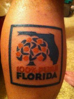 25 Beautiful State of Florida Tattoos - TattooBlend Michigan Tattoos, Florida Tattoos, Texas Tattoos, Florida Girl, State Of Florida, Orange Bird, Cool Tats, I Tattoo, Tatting