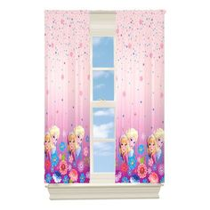 Disney Frozen Breeze Room Darkening Panel, 42 by Frozen Theme Room, Frozen Bedroom Decor, Frozen Room, Drapery Panels, Panel Curtains, Bedroom Themes, Girls Bedroom, Fenton House, Toddler Themes