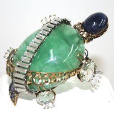 iradj moini jewelry   Iradj Moini Turtle Pin - Large flourite stone with citrines crystals ...