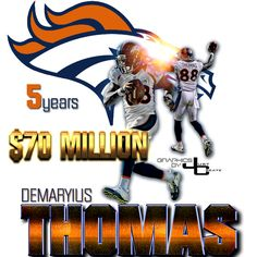 Demaryius Thomas graphics by justcreate Sports Edits
