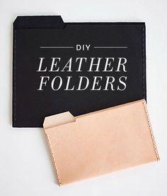 {leather folders} via Design Sponge