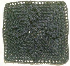 Pola kotak crochet ashley. Bisa buat granny square membuat baju, syal, selimut atau apapun :)