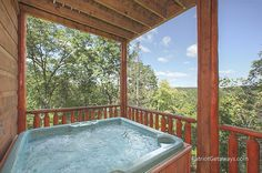 Our hot tub :) :) GATLINBURG Cabins American Patriot Getaways-TRANQUILITY