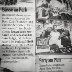 Just got this.. thanks @kleinezeitung #12hourspartyandalligotisthistinyarticle #binichjetztberühmt? #electrocarnival #cik #cikness #klagenfurt #carinthia #austria #underground