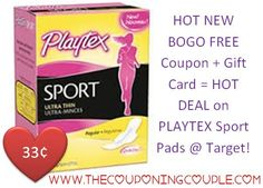 ***PLAYTEX SPORT PADS JUST 33¢ EACH @ TARGET with NEW BOGO FREE COUPON and GIFT CARD DEAL*** This coupon won't last long!  Click the link below to get the BREAKDOWN and DIRECT LINK to the coupons ► http://www.thecouponingcouple.com/super-cheap-playtex-sport-pads-target-with-new-coupon/  #Coupons #Couponing #CouponCommunity  Visit us at http://www.thecouponingcouple.com for more great posts!
