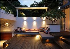 I love the lighting.  Deck Ideas | contemporary private deck pictures 2011 contemporary private deck ...