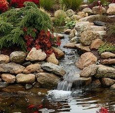 Like this beautiful waterfall and stream too! There is something about water in the landscape! It is just so peaceful and relaxing. #omnivorus.com