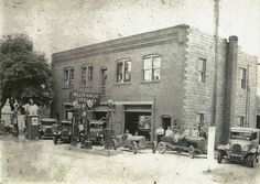 Frank Wilson's Garage, Strattanville  PA. From the Archives of The Clarion County Historical Society