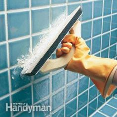 How to Regrout Bathroom Tile: Fixing Bathroom Walls: The Family Handyman
