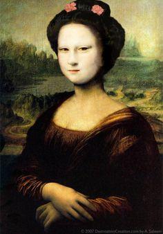 The International Face of Mona Lisa Caricature, Bd Pop Art, Mona Friends, Mona Lisa Parody, Mona Lisa Smile, Renaissance Artists, Classic Artwork, American Gothic, Italian Artist