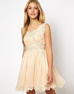 Opulence England Prom Dress With Lace Trim