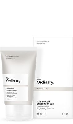 The Ordinary + Azelaic Acid Suspension The Ordinary Azelaic Acid, The Ordinary Primer, The Ordinary Skincare Guide, Silicone Primer, Sensitive Skin Care, Normal Skin, Rosacea, Natural Skin Care, Healthy Skin