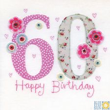 View item: Blue Eyed Sun X41 Vintage 60th Birthday Card